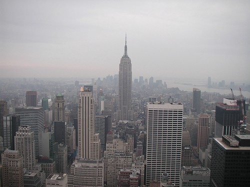 View from top of the Rockefeller Centre