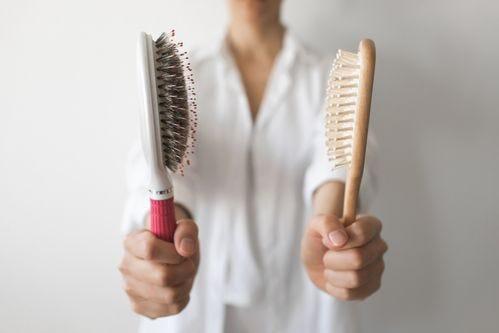 clean hairbrush, hair comb, hairbrush
