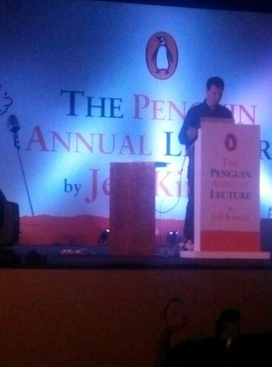 Jeff Kinney on stage at the podium