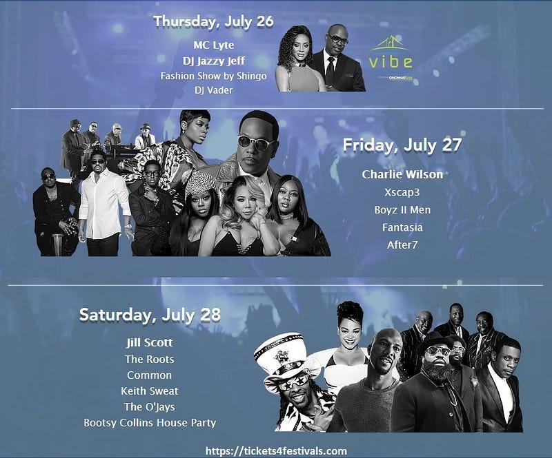 Cincinnati Music Festival 2018 lineup