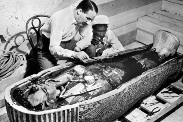 Carter examines the coffin. Did he unleash a sinister force?