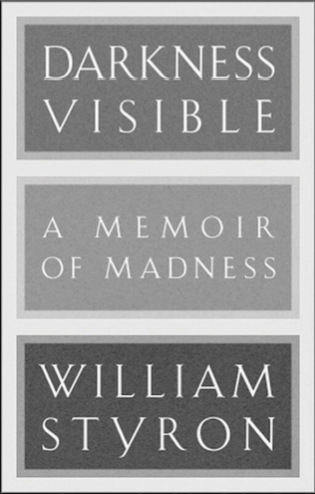 Description: The cover of William Styron's 'Darkness Visible: A Memoir of Madness', in shades of grey.