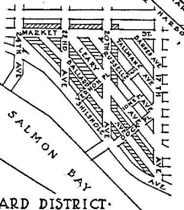 Ballard pre-zoning, six-story masonry buildings were legal. (City of Seattle)