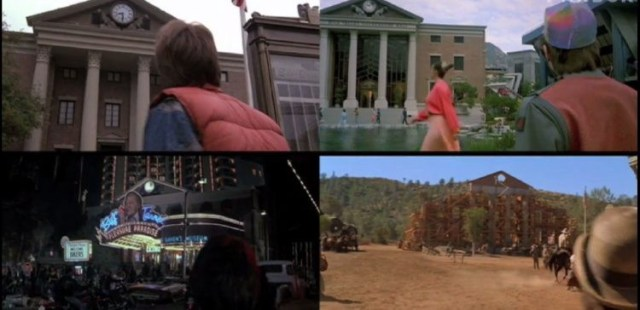 "We can see the different version of the Clock tower in ""Back to the future"", past present future, representing the flexible plan that has to be done from a period of time to another"