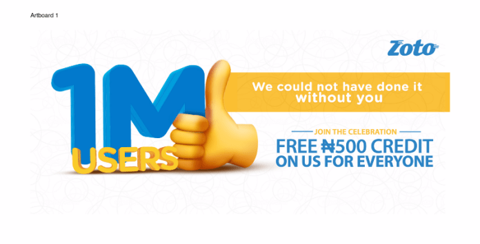 N500 FREE airtime for everyone as Zoto celebrates one million users! - Brand Spur