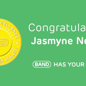 Congratulations Jasmyne Nelson, #BANDhasYourBack!