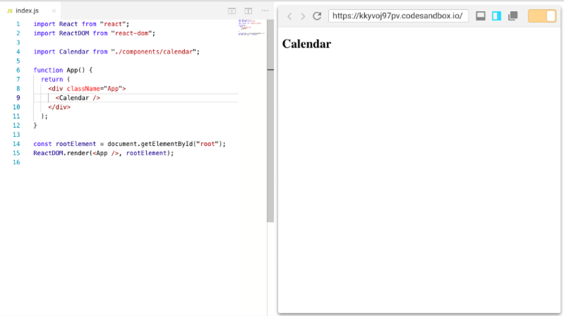 Build a React Calendar Component from scratch - Programming