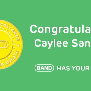 Congratulations Caylee Sanchez, #BANDhasYourBack!