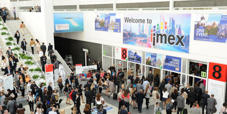 attendees networking at IMEX
