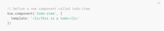 Mendefinisikan Vue.js Component