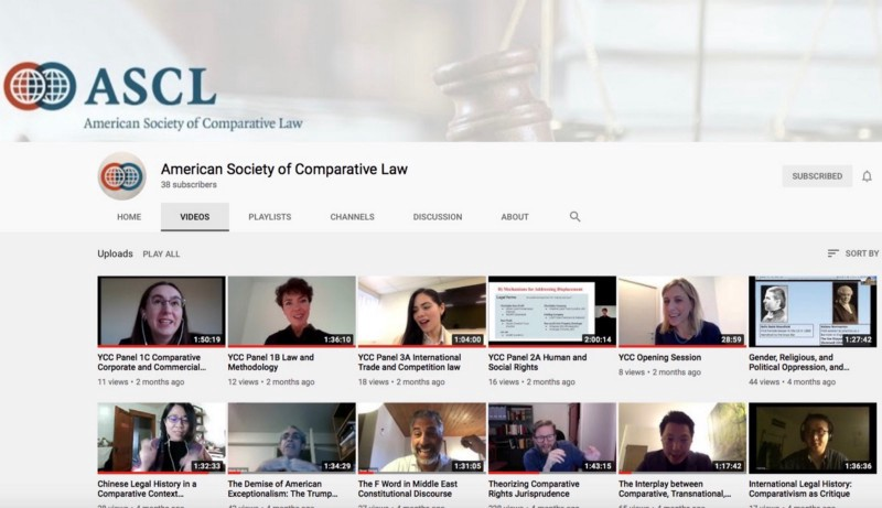 The Videos from the 2020 Annual Meeting of the ASCL and of the Younger Comparativists Committee…
