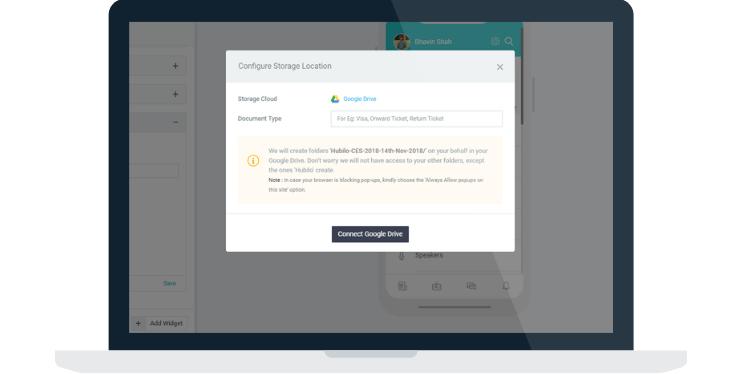 user document event app feature