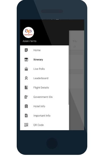 Incentive travel event app