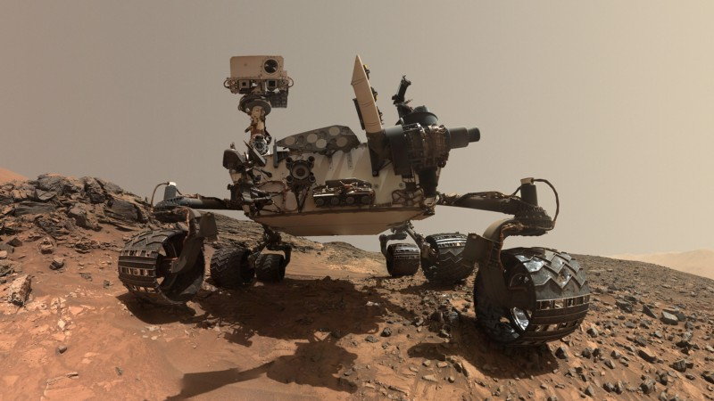 The Curiosity rover, currently on Mars