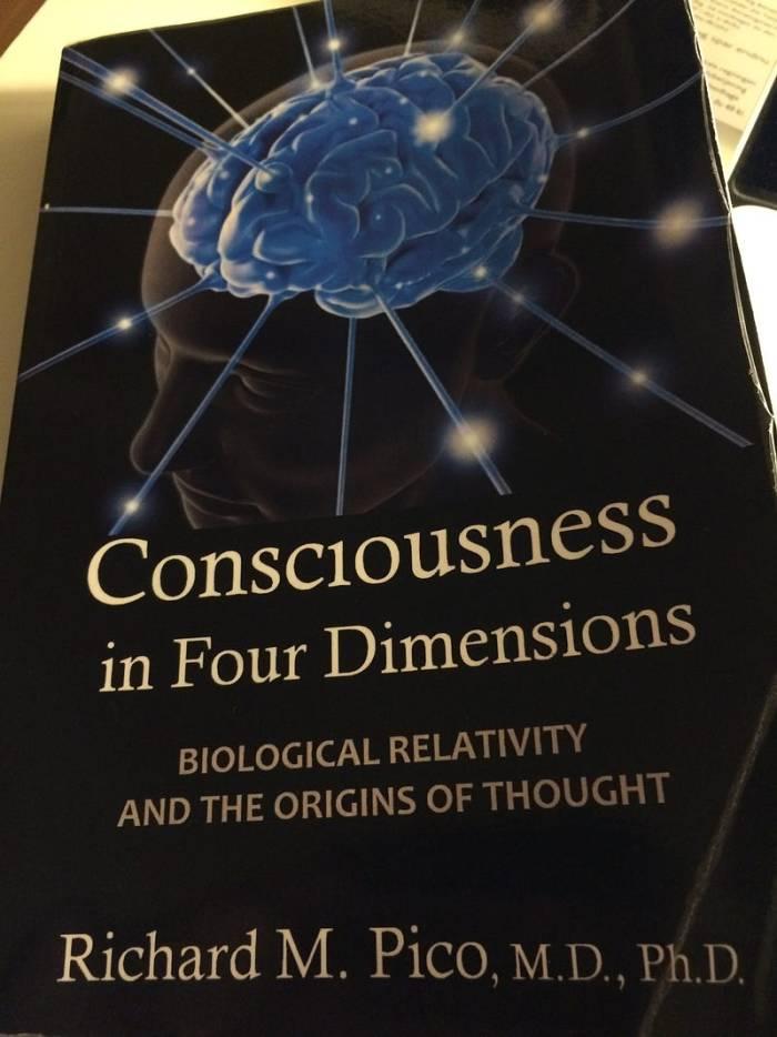 Consciência em quatro dimensões é um livro de Richard M. Pico que aplica a teoria da relatividade nos processos biológicos. Foto: Alexandre Magno—Copenhagen, 2016