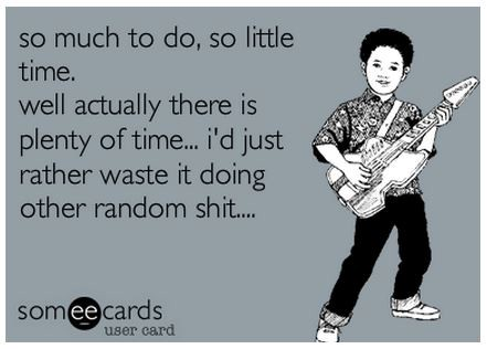 ecard graphic about wasting time. an excuse many companies use for not conducting user research.