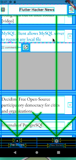 Big Arrows for scrolling widgets.