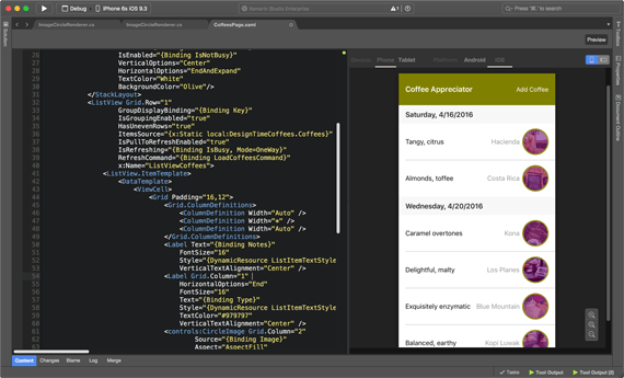 Xamarin Forms allows you to share almost 95% of the code between platforms