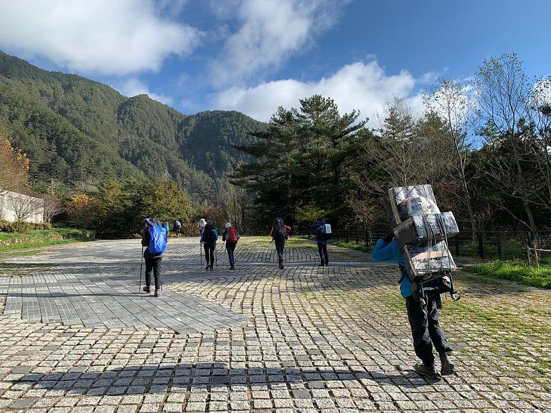 嘉明湖登山步道0KM處