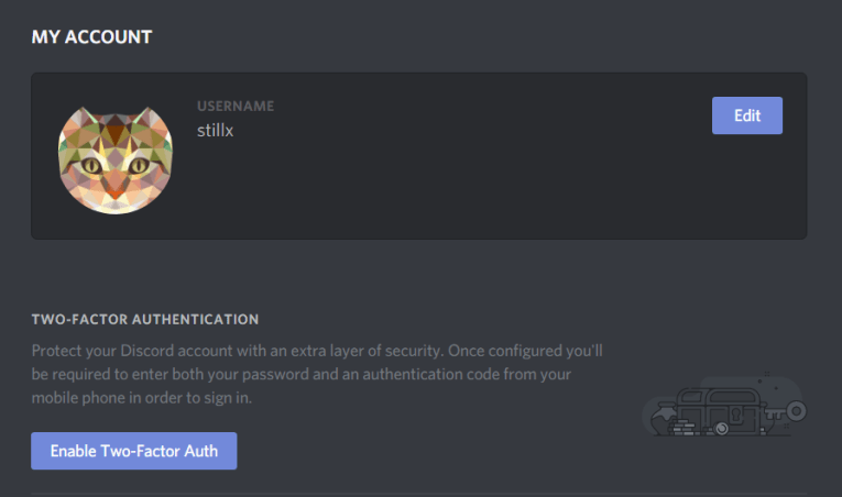 Discord in the land of ICOs     5t1ll     Medium Enable 2FA on the My Account header under    User Settings