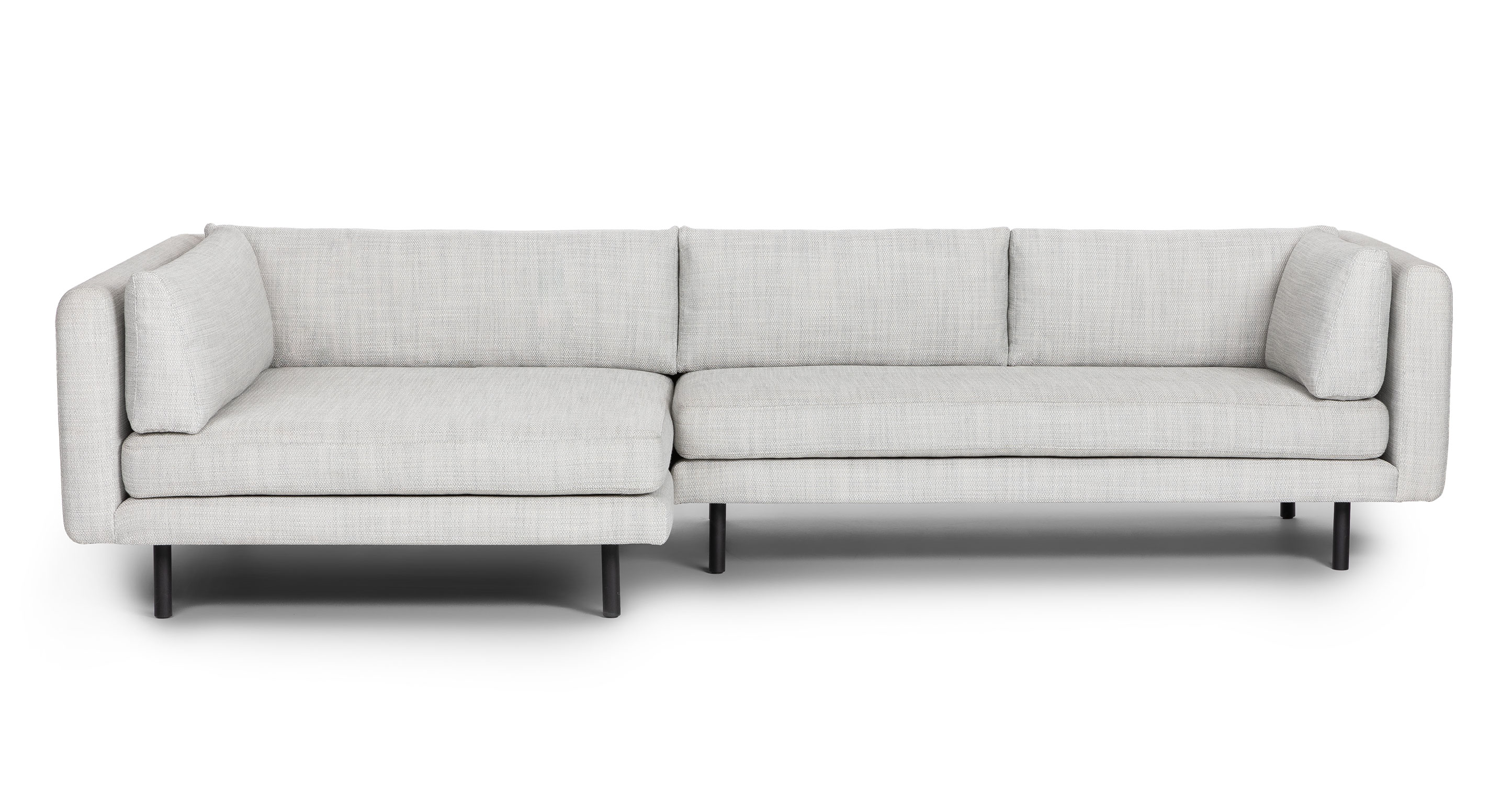 lappi serene gray left sectional sofa