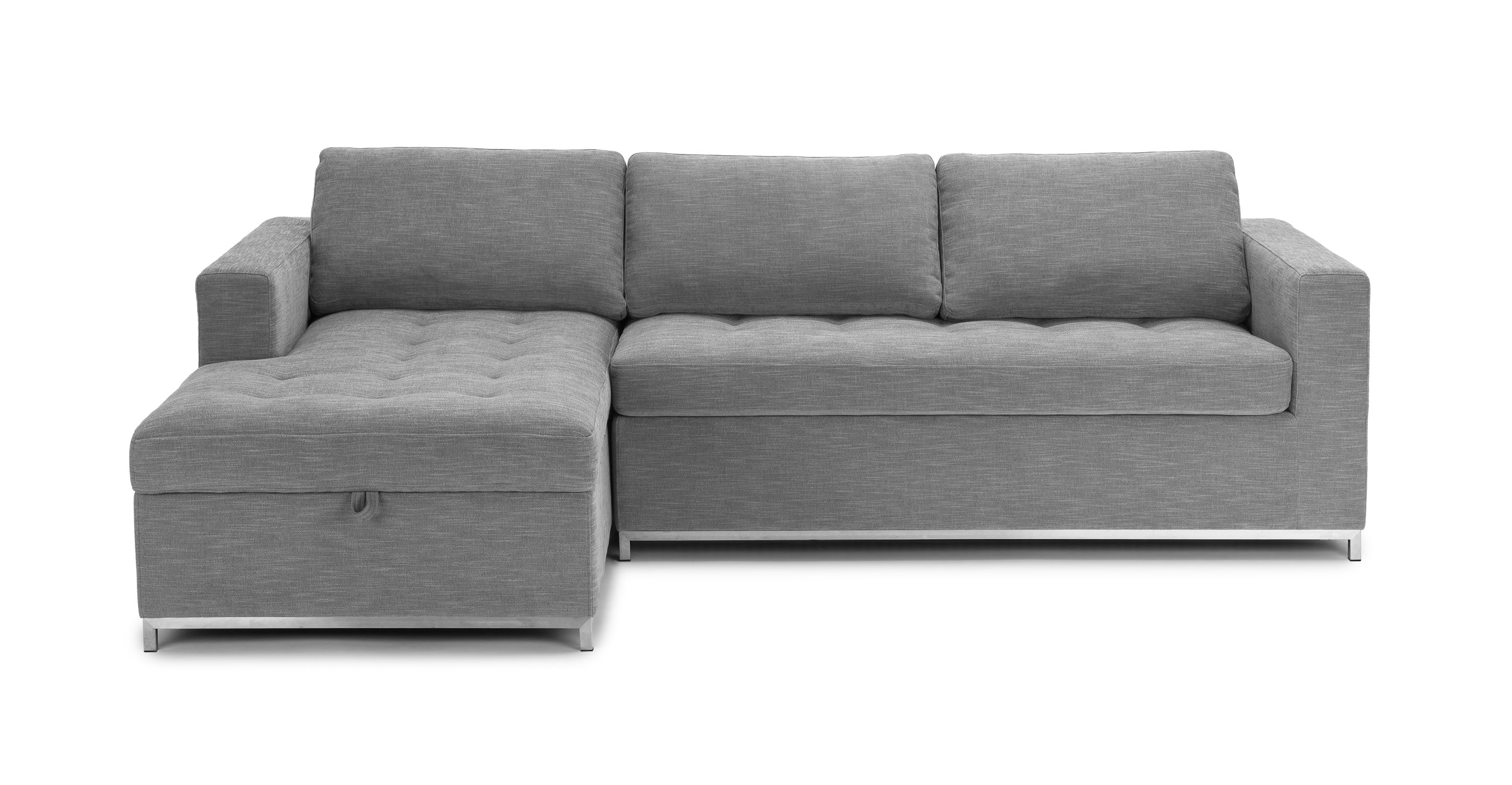 Best Kitchen Gallery: Soma Dawn Gray Left Sofa Bed Sectionals Article Modern Mid of Sofa Bed  on rachelxblog.com