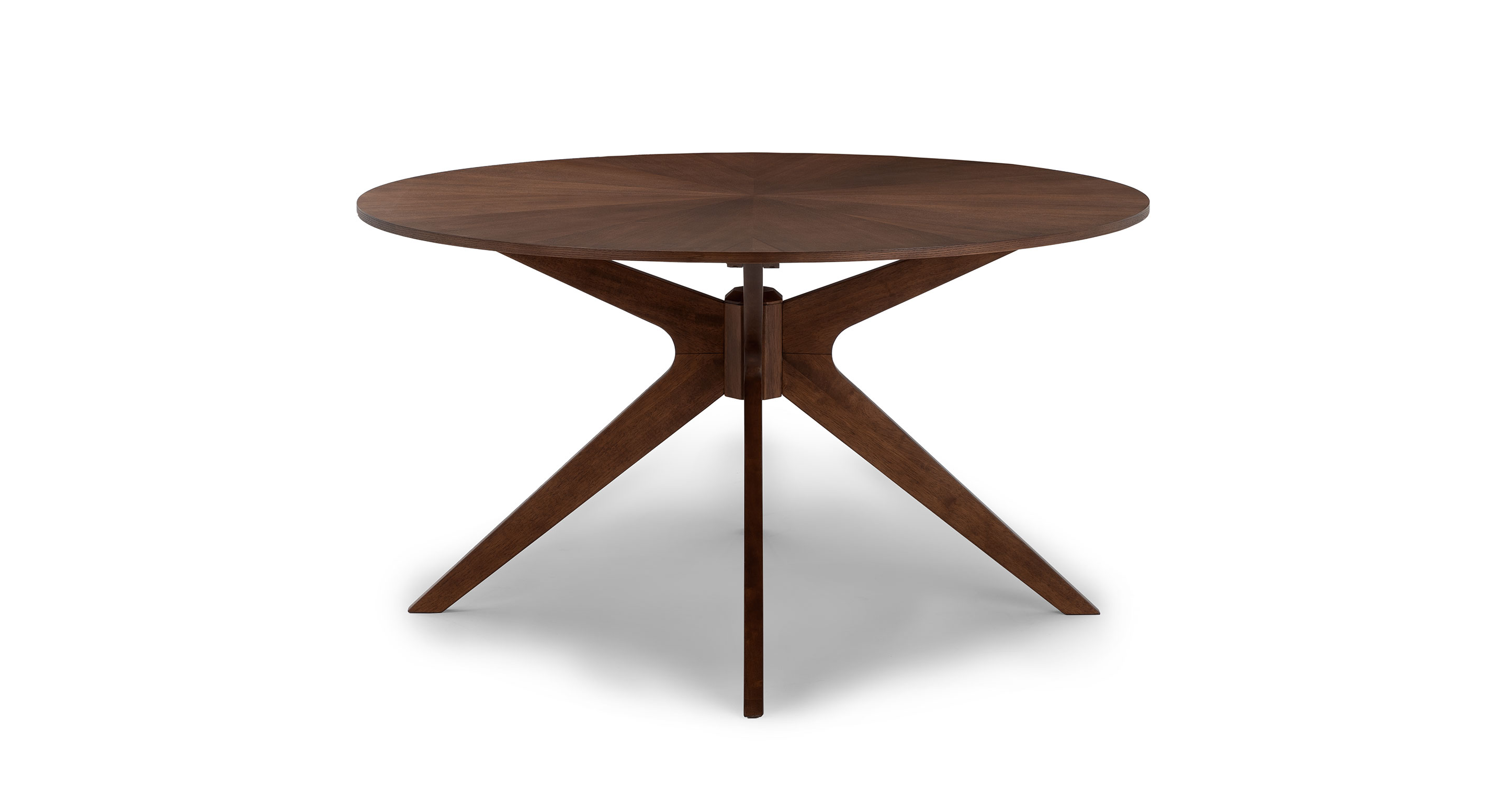 30 Walnut Wood 4 Person Round Dining Table Conan Article