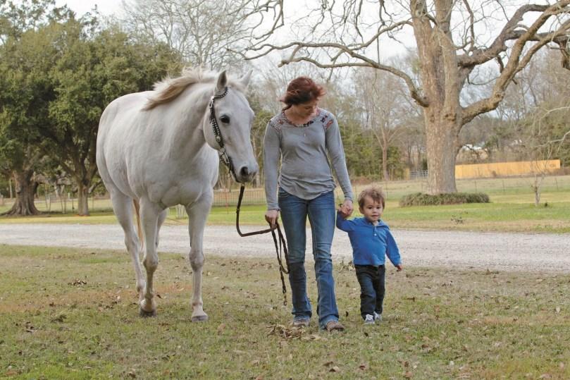 Broussard Balances Riding and Motherhood