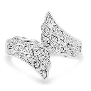 Diamond Angel-Wings Ring $38 Shipped