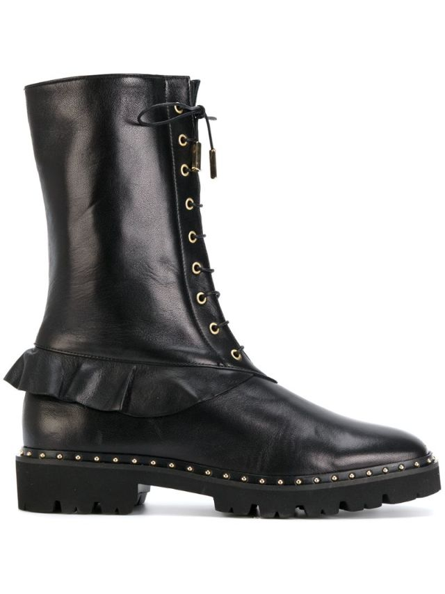 Racine Carree - frill detail boots, $569