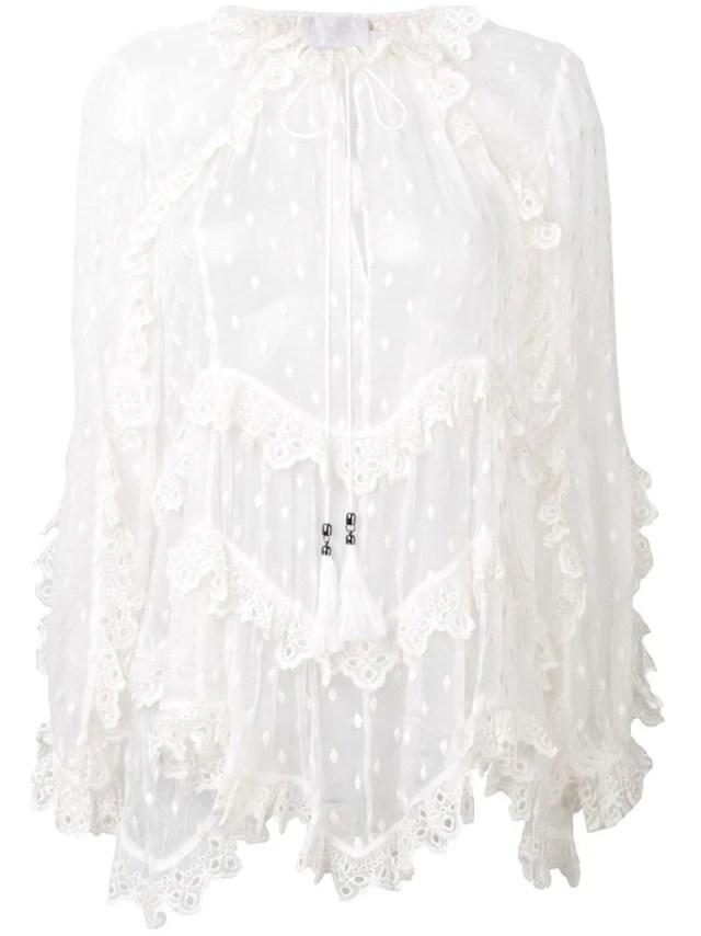 Zimmermann - frill sheer blouse, $914
