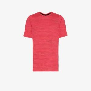 Byborre Mens Coral Textured Cotton Blend T-shirt
