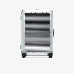 Fpm Milano Silver Tone Steel Spinner 68 Suitcase
