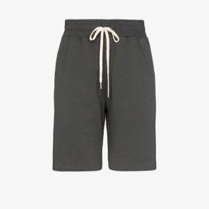 John Elliott Mens Grey Crimson Cotton Track Shorts