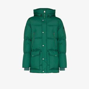 Woolrich Mens Green Sierra Supreme Quilted Coat