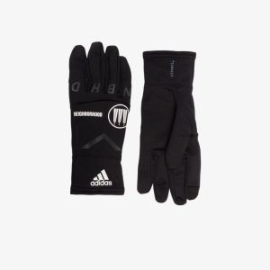 Adidas X Neighborhood Mens Black Logo Gloves, Size: M