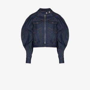 Eckhaus Latta Womens Blue Puff Sleeve Denim Jacket