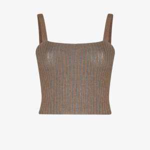 Eckhaus Latta rib knit wool vest
