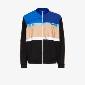 Koché Mens Blue Mixed Print Zipped Track Jacket