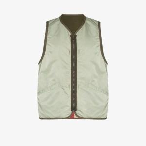 Visvim Mens Green Iris Reversible Vest
