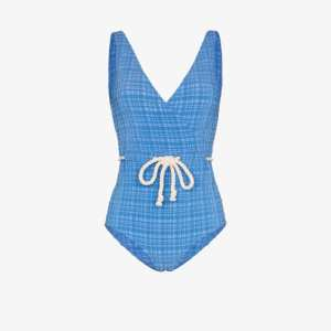 Lisa Marie Fernandez Womens Blue Yasmin Drawstring Swimsuit