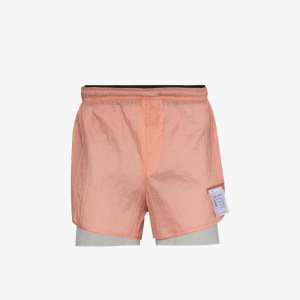Satisfy Mens Pink Multicoloured Trail Long Distance Running Shorts