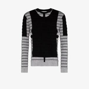 Craig Green Mens Black Panelled Crew Neck Sweater