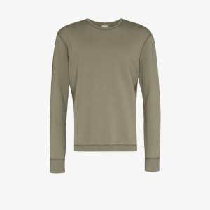 Reigning Champ Mens Green Midweight Terry Cotton Sweatshirt