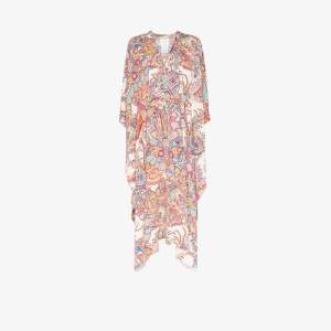 Etro Womens White Paisley Kaftan Maxi Dress