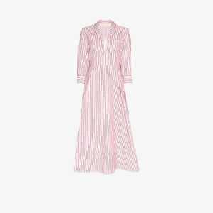 By Any Other Name Womens White Striped Cotton Midi Dress