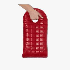 A.w.a.k.e. Mode Womens Red Bo Quilted Clutch Bag