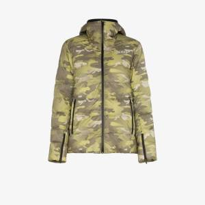 Colmar Womens Green Camouflage Print Puffer Jacket