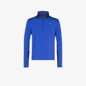 Kjus Mens Blue Calderas Midlayer Jacket