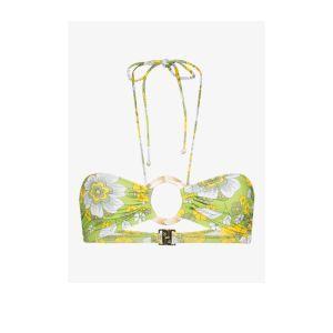 Dodo Bar Or Womens Green Erica Floral Halterneck Bikini Top